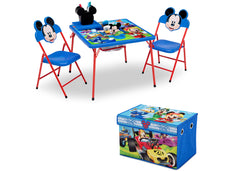 Disney Mickey Mouse (1053) 4-Piece Kids Furniture Set (99528MM), Table and Toy Box, a2a
