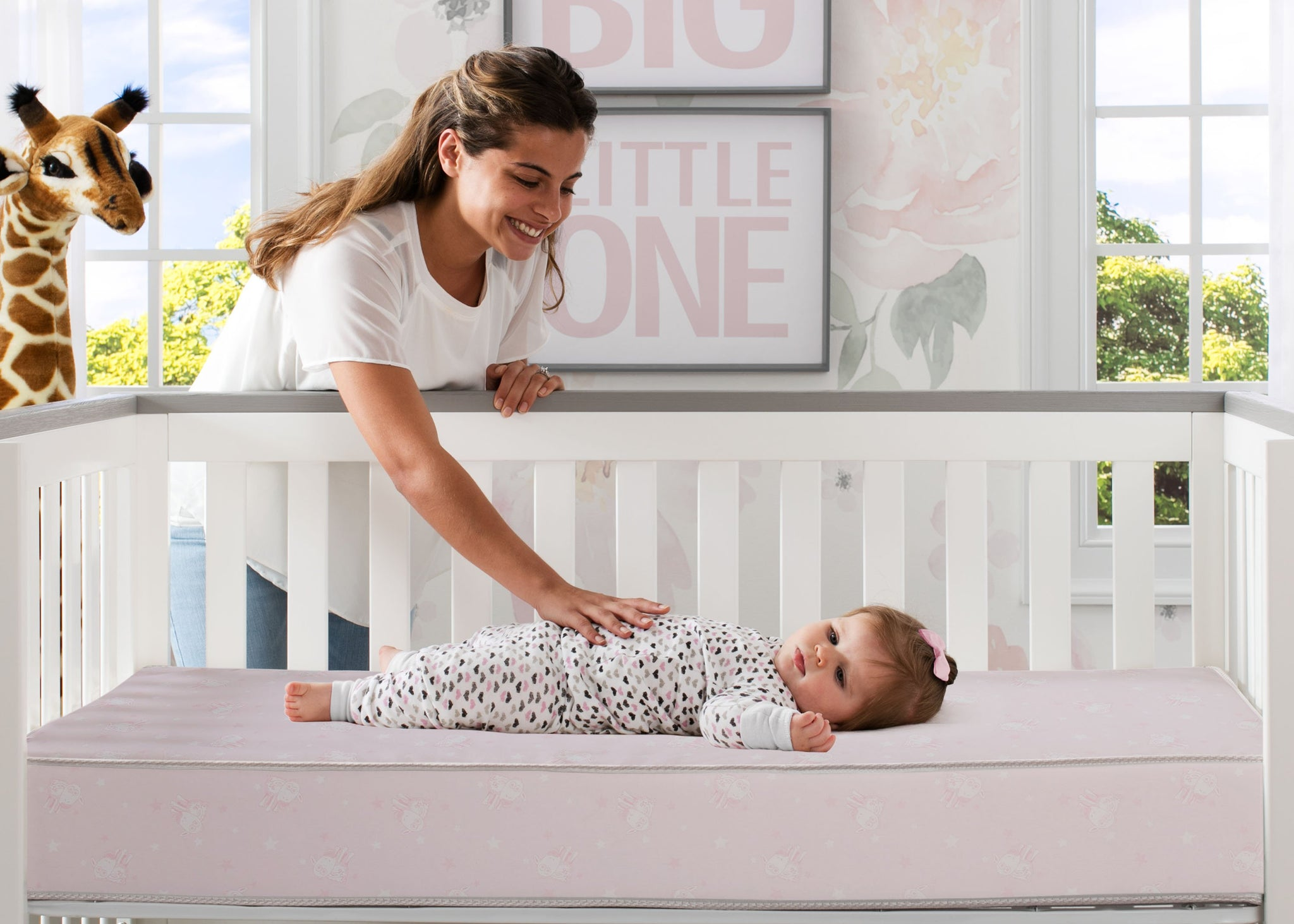 Sertapedic® Bloom Crib and Toddler Mattress (A41103-3190-NO), with models, a1a No Color (NO)
