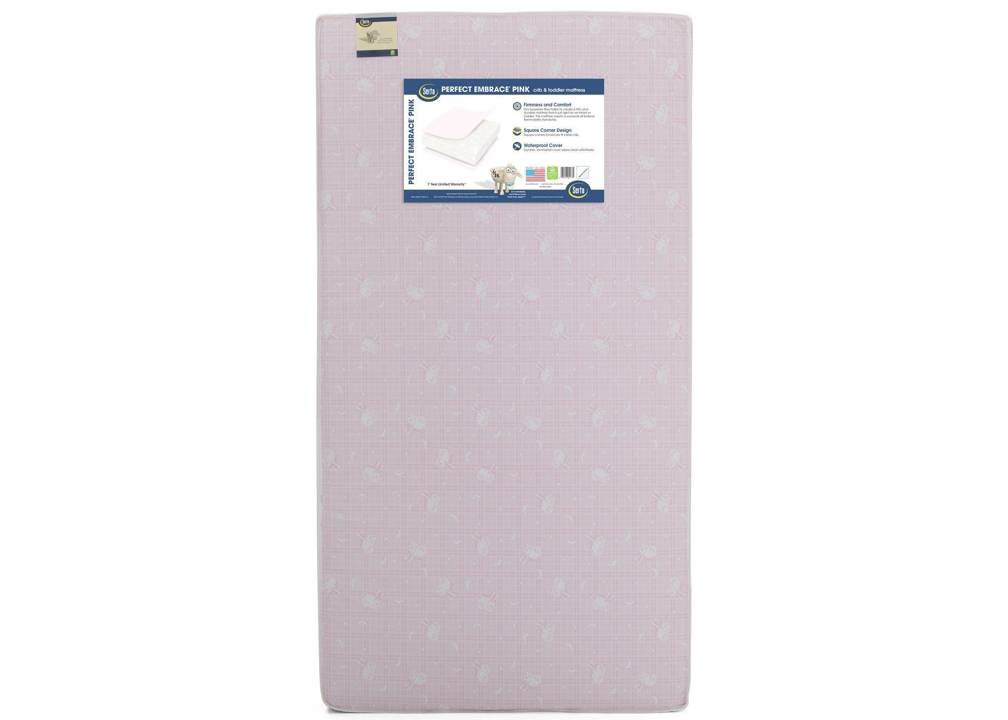 "Serta Perfect Embrace Pinkâ""¢ Crib & Toddler Mattress Front View a3a No Color (NO)"