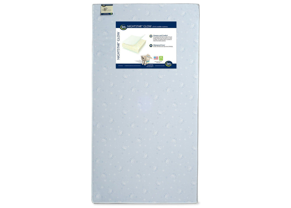 Serta Nightstar Glow Crib Amp Toddler Mattress Delta Children