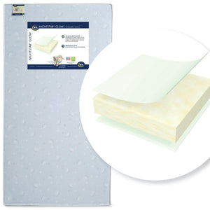 "Serta Nightstarâ""¢ Glow Crib & Toddler Mattress Front View a1a Nightstar™ Glow Crib & Toddler Mattress No Color (NO)"