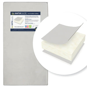 Serta SertaPedic Crib and Toddler Mattress (A41117-1115), a1a No Color (NO)
