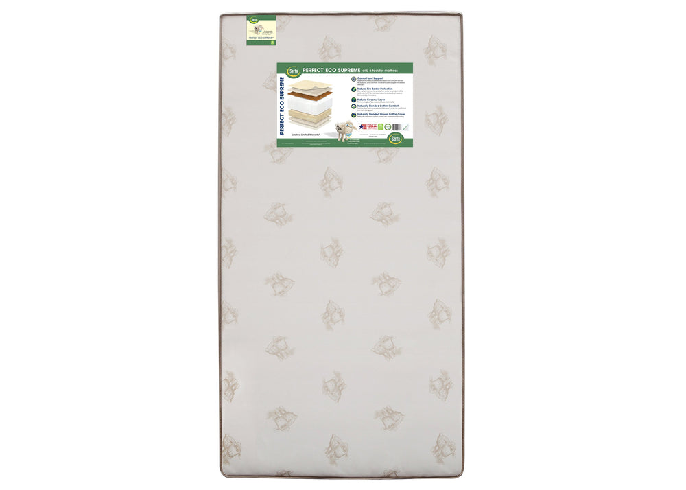Serta Perfect Eco Supremeâ Crib Toddler Mattress Front View A2a