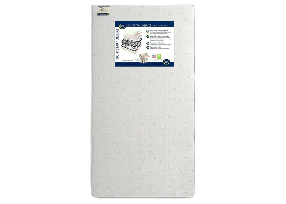 Serta Nightstar Deluxe Crib & Toddler Mattress Front View a4a
