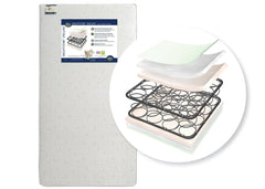 Serta Nightstar Deluxe Crib & Toddler Mattress Front View a2a