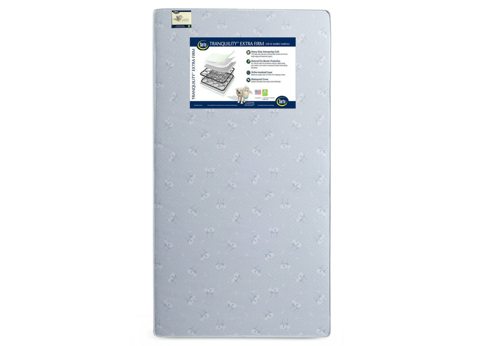 Serta Tranquility Extra Firm Crib & Toddler Mattress Front View a3a