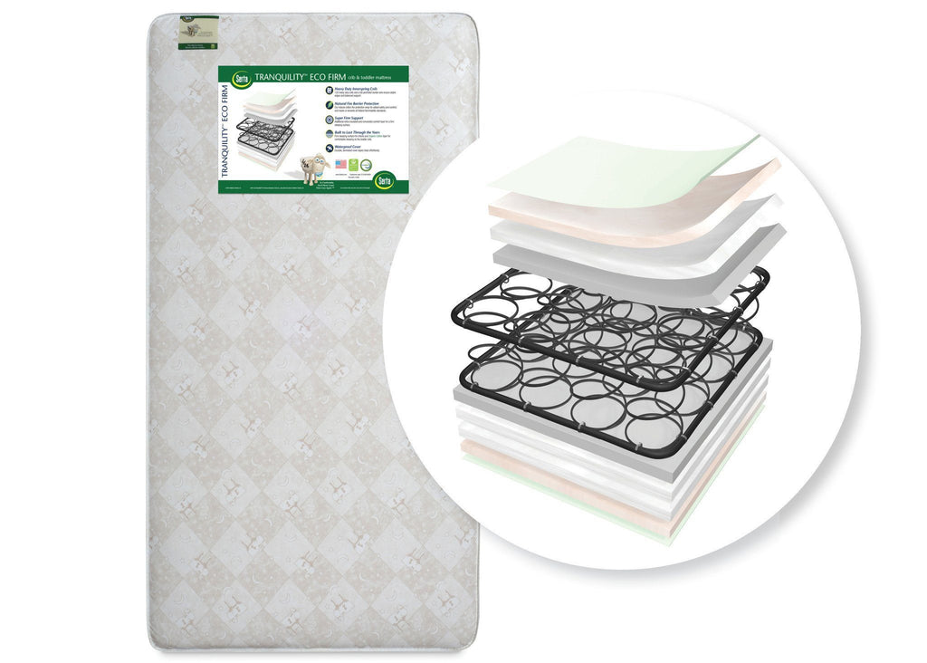 new product ac240 0a5a6 Serta Tranquility™ Eco Firm Crib & Toddler Mattress