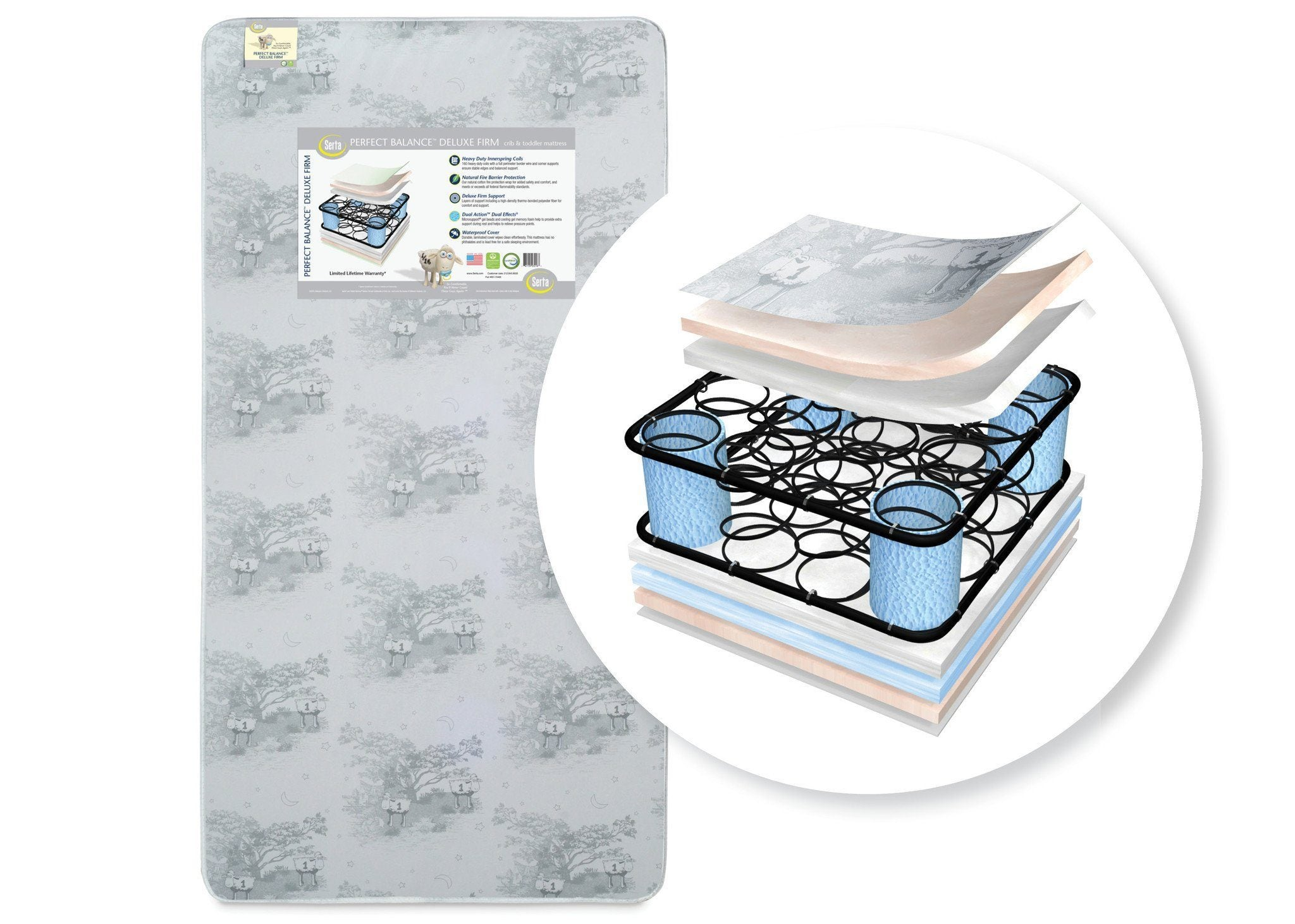 Perfect Balance™ Deluxe Firm Crib & Toddler Mattress No Color (NO)