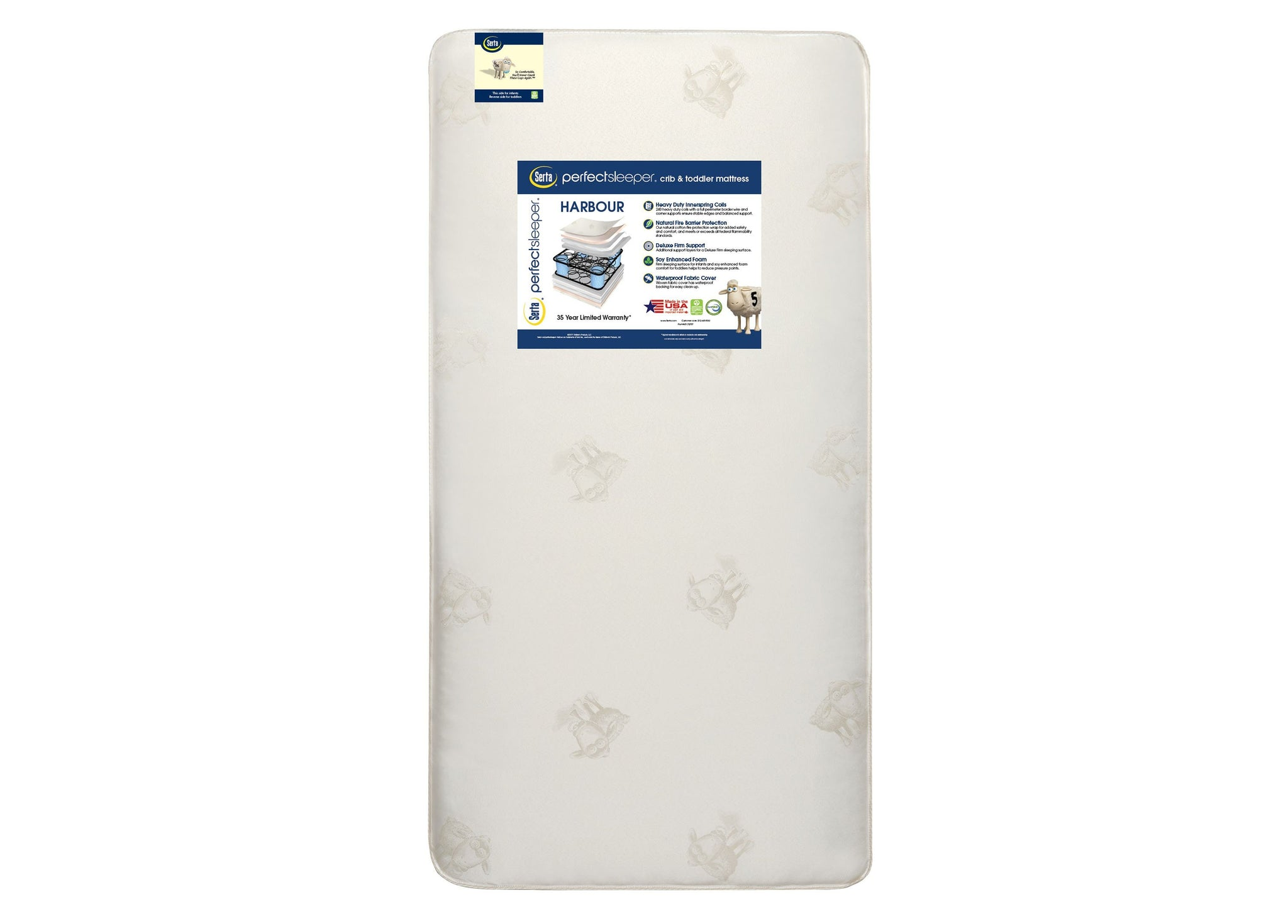 iComfort® Moongaze Foam Crib and Toddler Mattress (A41216-1032-NO), front view, a4a No Color (NO)