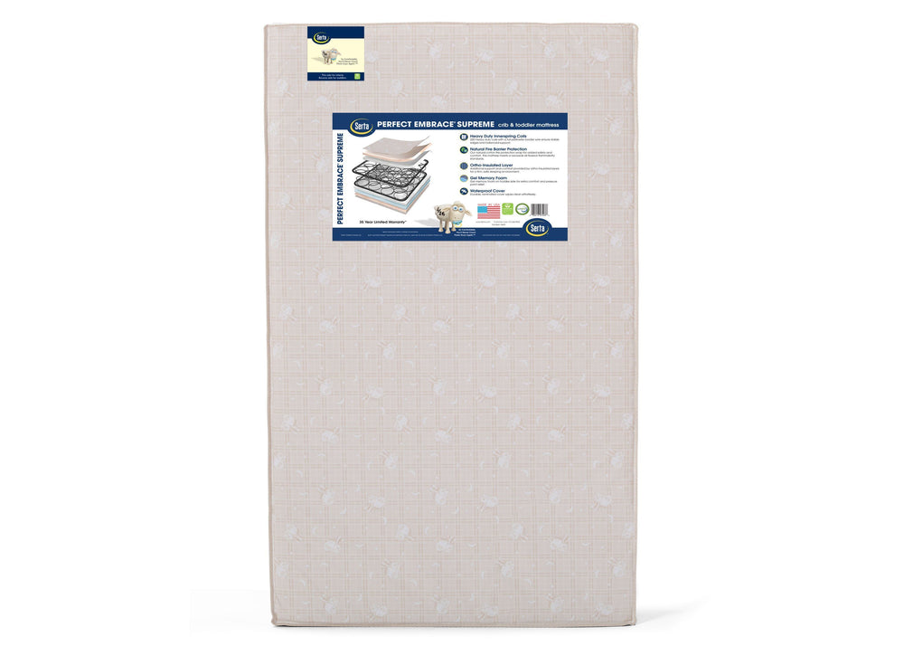 Serta Perfect Embrace Supreme 2 Stage Crib and Toddler Mattress (A46111-1117), a3a