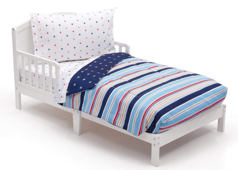 Boy 4-Piece Toddler Bedding Set, Stars and Stripes (2200) a3a