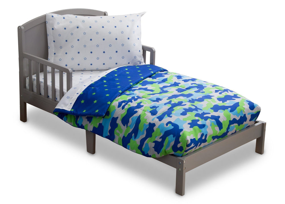 Boy 4-Piece Toddler Bedding Set, Camo and Stars (2202) d3d