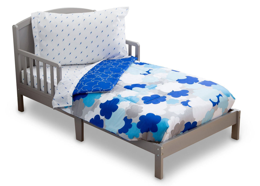 Boy 4-Piece Toddler Bedding Set, Blue Clouds (2203) c3c