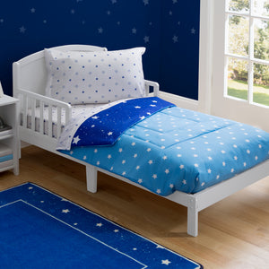 Boy 4-Piece Toddler Bedding Set, Blue Starry Night (2205) e1e