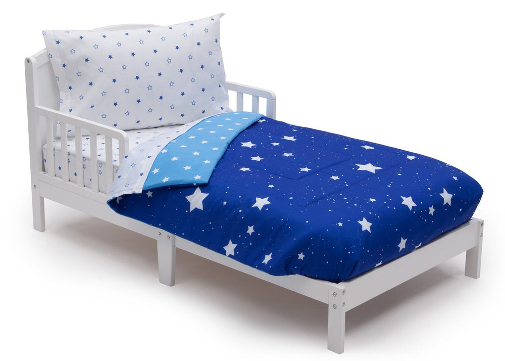 Boy 4-Piece Toddler Bedding Set, Blue Starry Night (2205) e3e