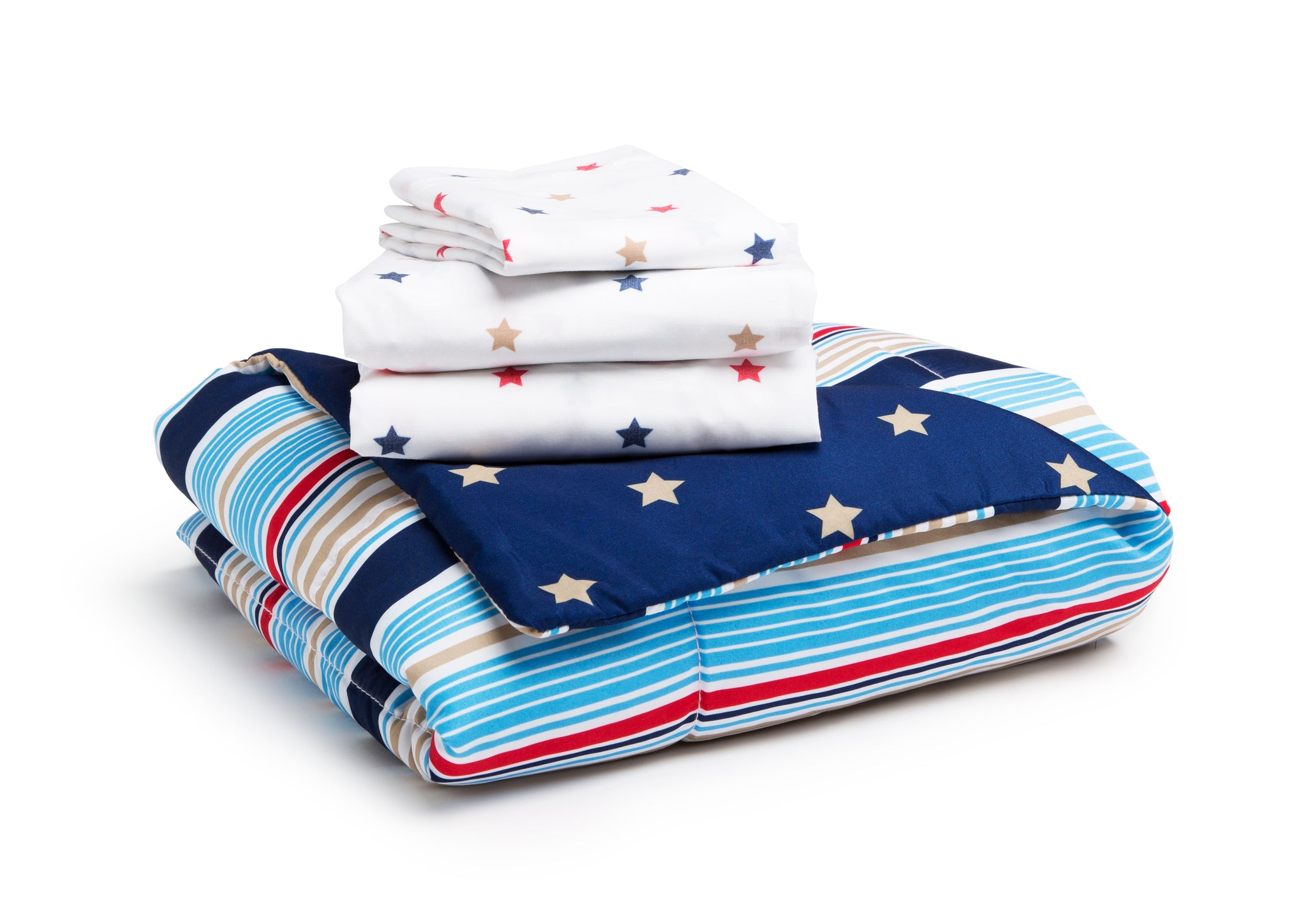 Boy 4-Piece Toddler Bedding Set, Stars and Stripes (2200) a4a