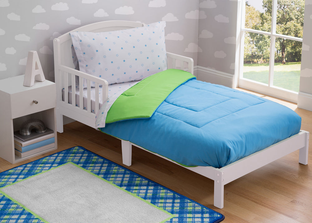 Boy 4-Piece Toddler Bedding Set, Bright Star (2207) g1g