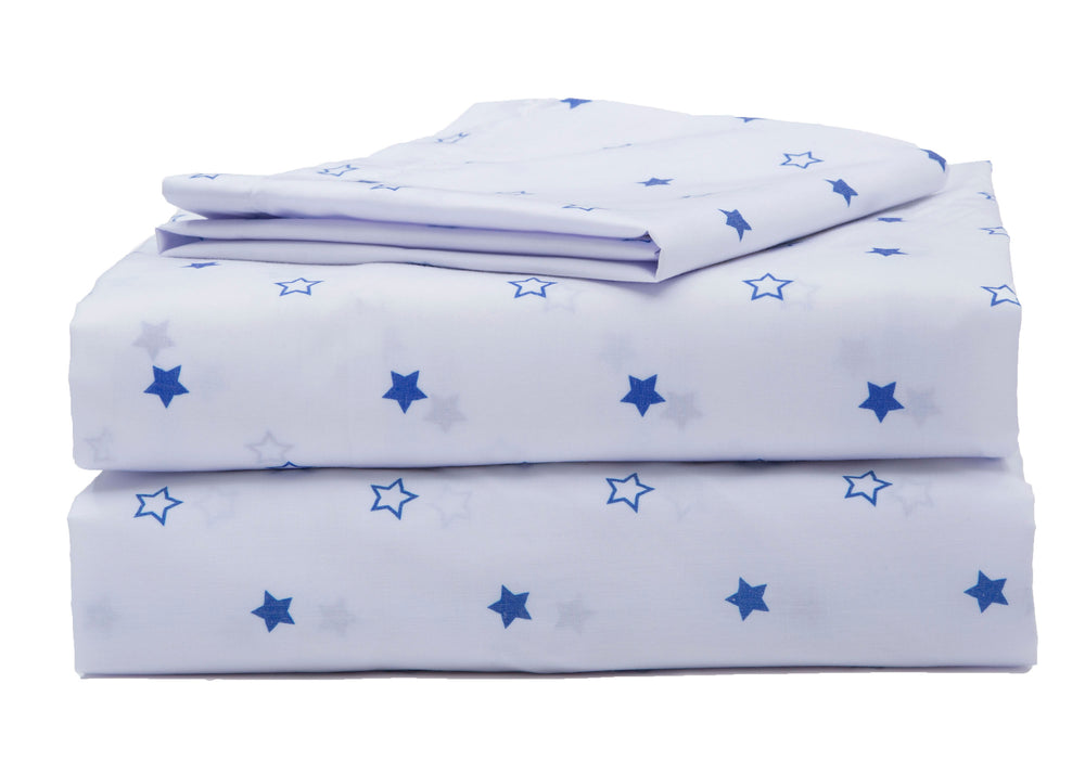 Boys 3-Piece Toddler Sheet Set, Blue Stars (2205) a4a