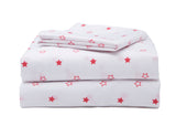 Boys 3-Piece Toddler Sheet Set, Red Stars (2208) b4b