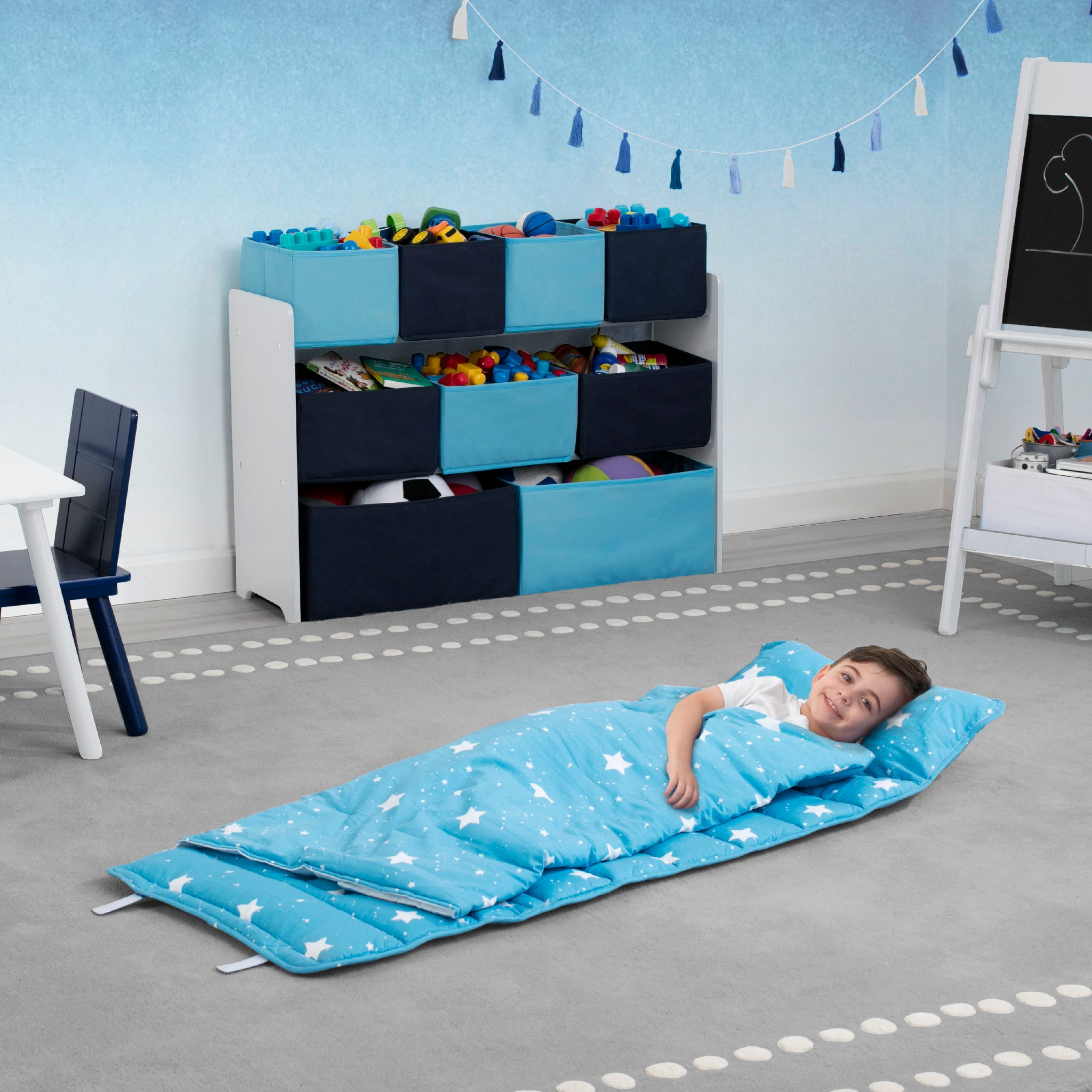 Nap Mat with Included Pillow and Blanket for Toddlers and Kids