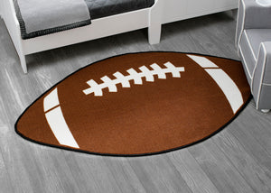 Delta Children Football (3204) Non-Slip Area Rug for Boys, Hangtag View