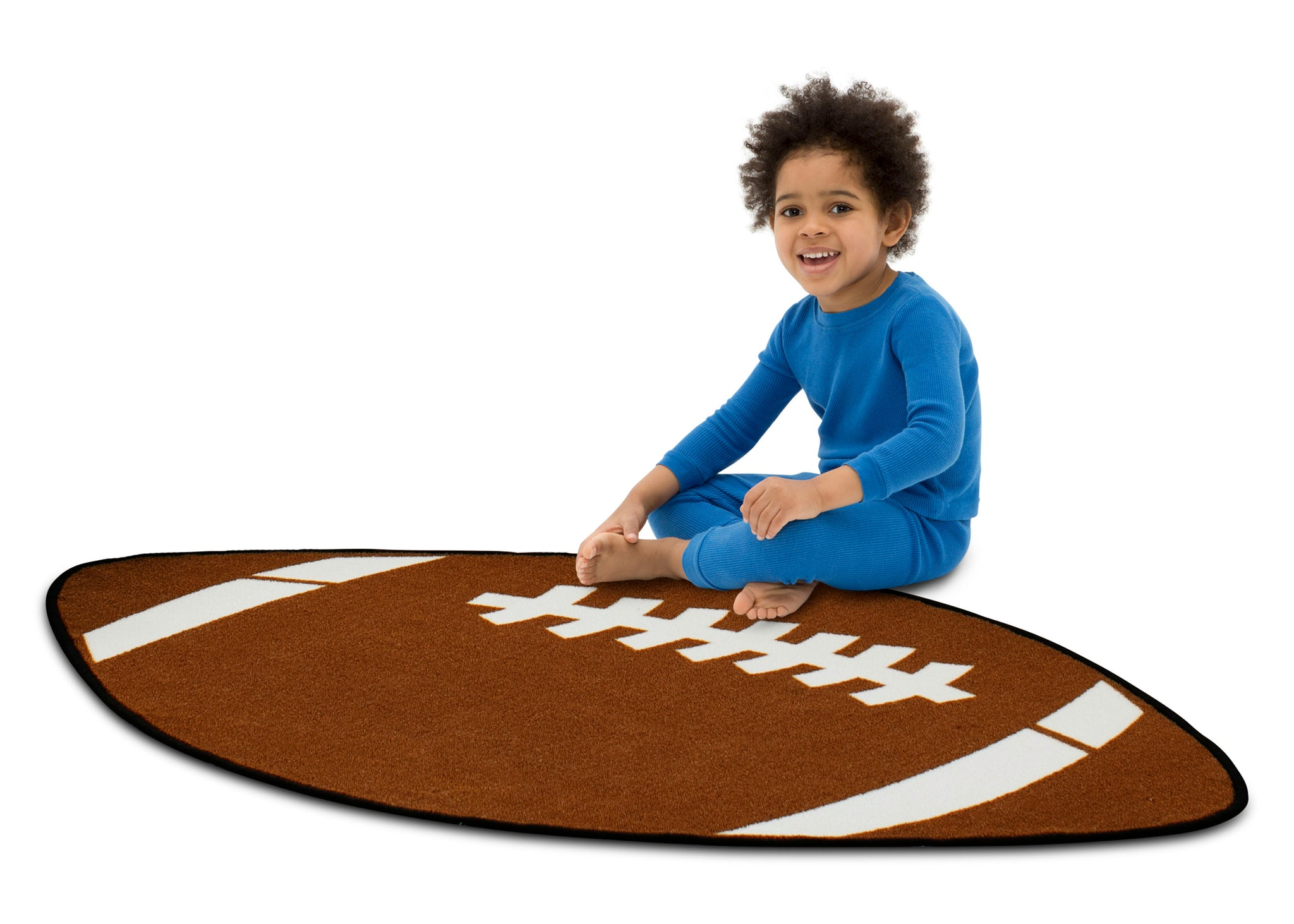 Delta Children Football (3204) Non-Slip Area Rug for Boys, Model View