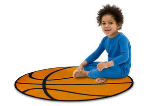 Delta Children Basketball (3205) Non-Slip Area Rug for Boys, Model View