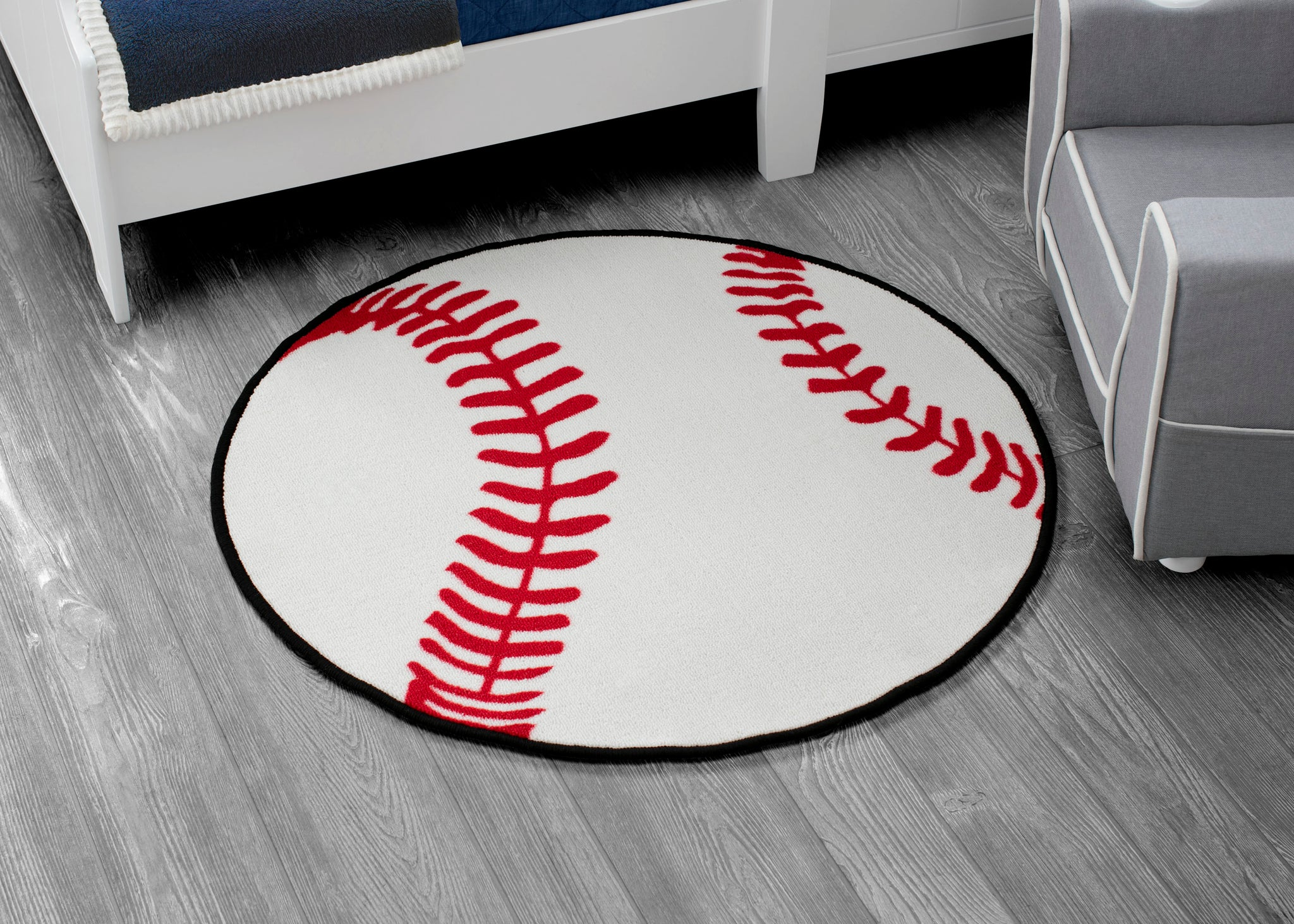Delta Children Baseball (3206) Non-Slip Area Rug for Boys, Hangtag View