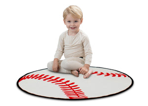 Delta Children Baseball (3206) Non-Slip Area Rug for Boys, Model View
