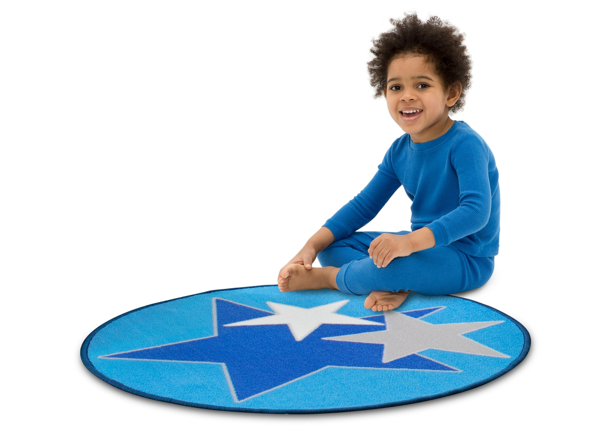 Delta Children Stars (3207) Non-Slip Area Rug for Boys, Model View