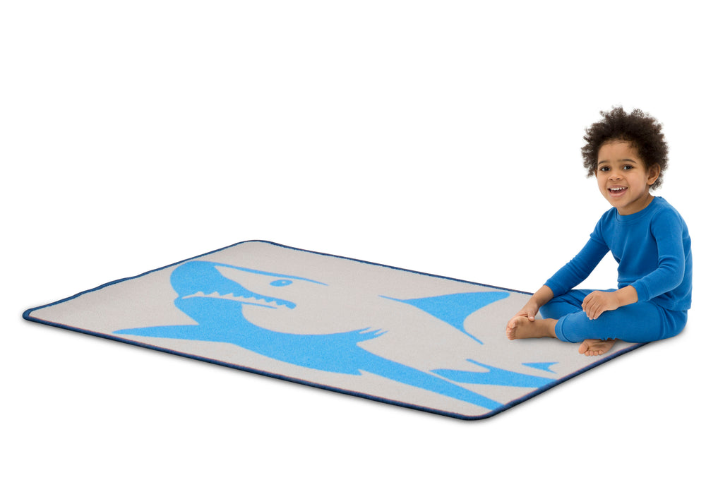 Delta Children Shark (3208) Non-Slip Area Rug for Boys, Model View