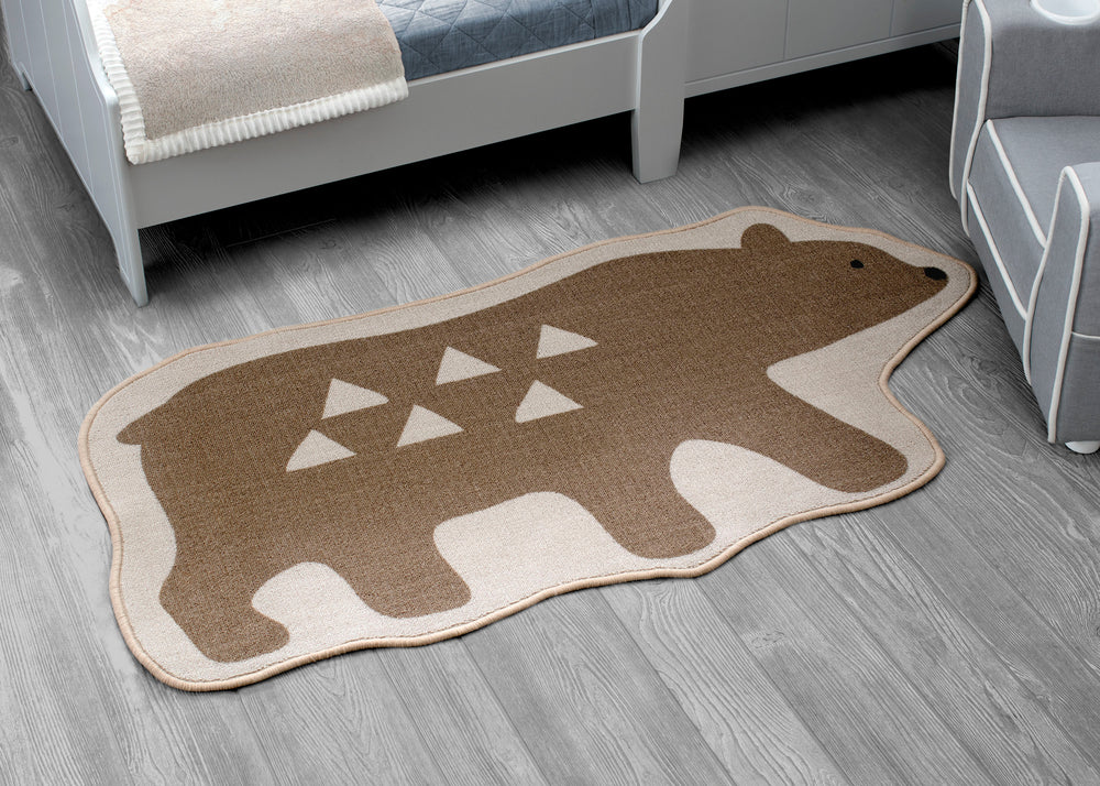 Delta Children Bear (3209) Non-Slip Area Rug for Boys, Hangtag View