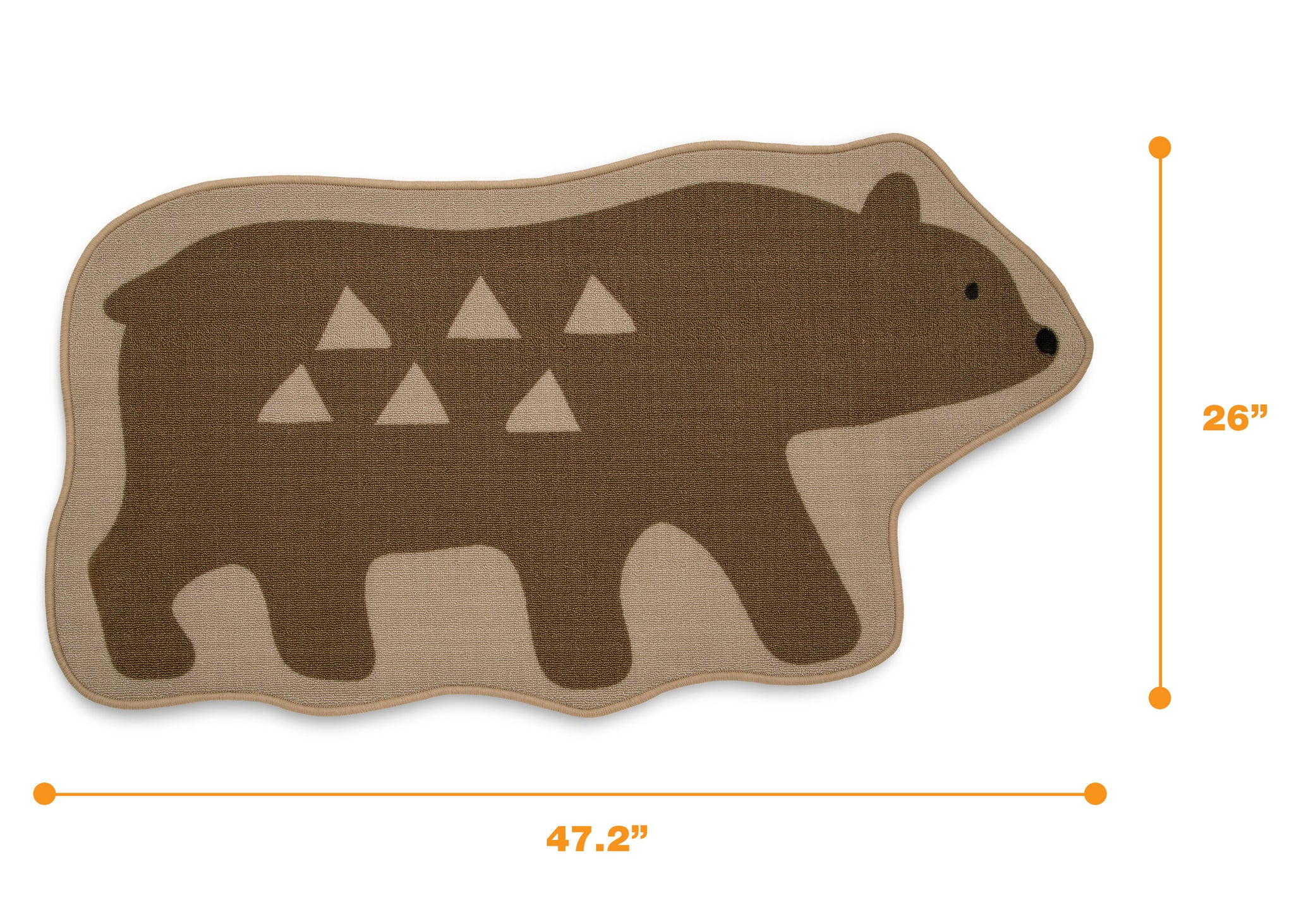 Delta Children Bear (3209) Non-Slip Area Rug for Boys, Measured View