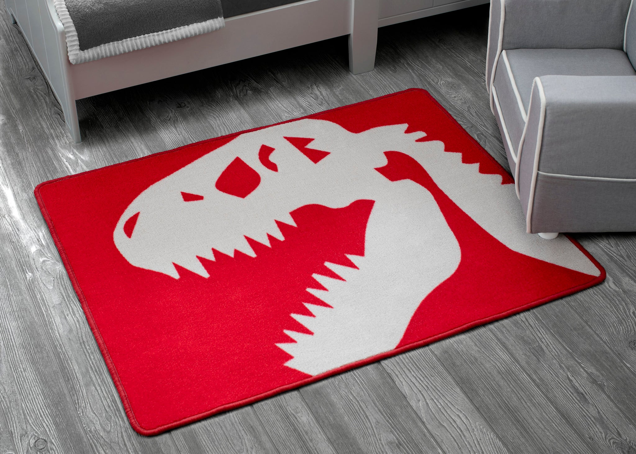 Delta Children Dinosaur (3210) Non-Slip Area Rug for Boys, Hangtag View