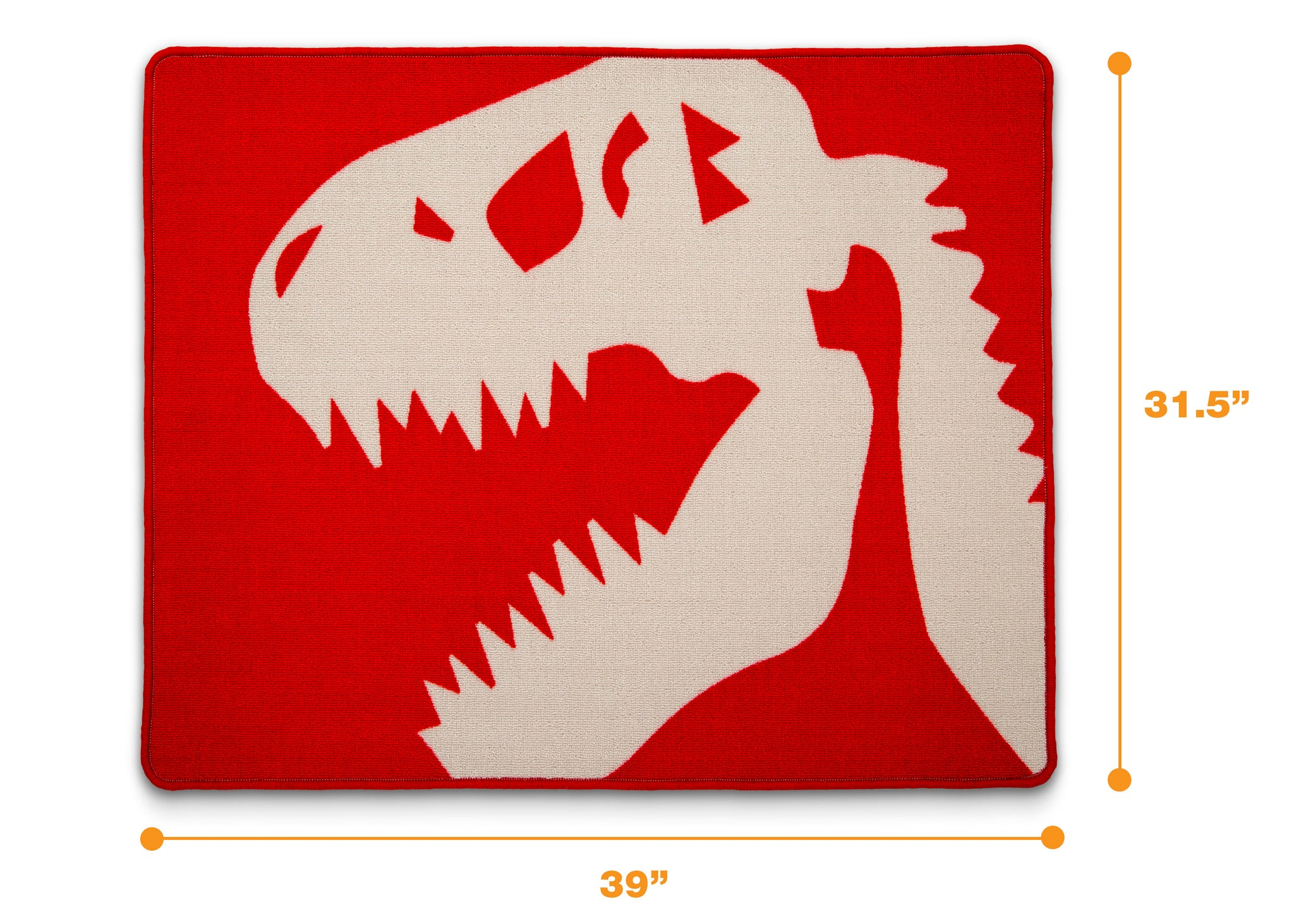 Delta Children Dinosaur (3210) Non-Slip Area Rug for Boys, Measured View