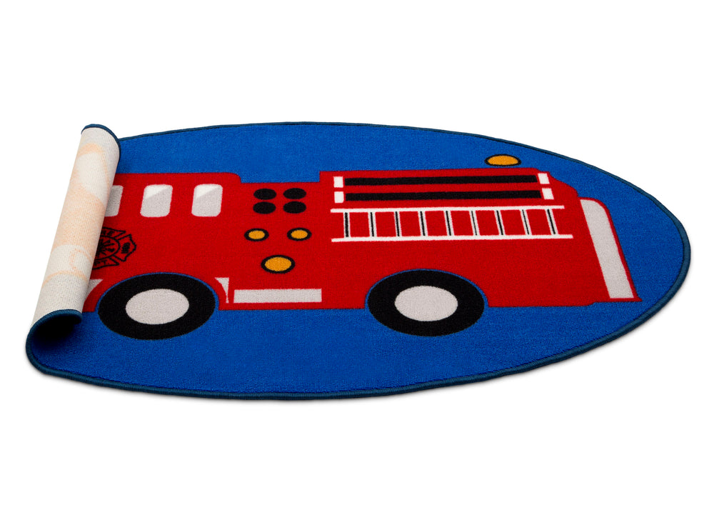Delta Children Firetruck (3211) Non-Slip Area Rug for Boys, Silo View