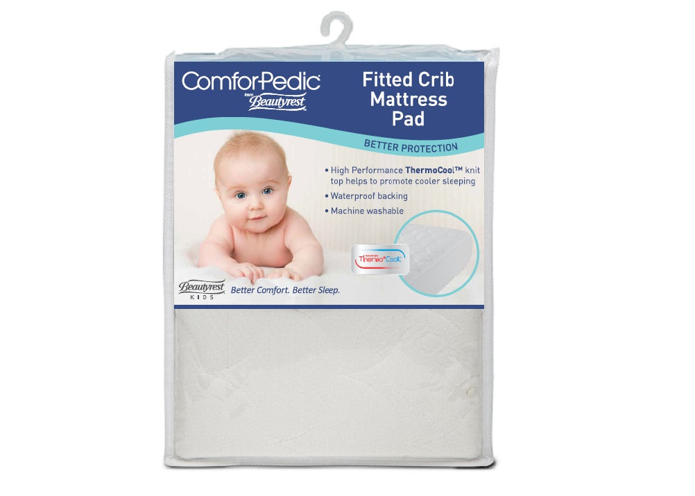 Beautyrest KIDS Fitted Crib Mattress Protector Packaged View a1a No Color (NO)
