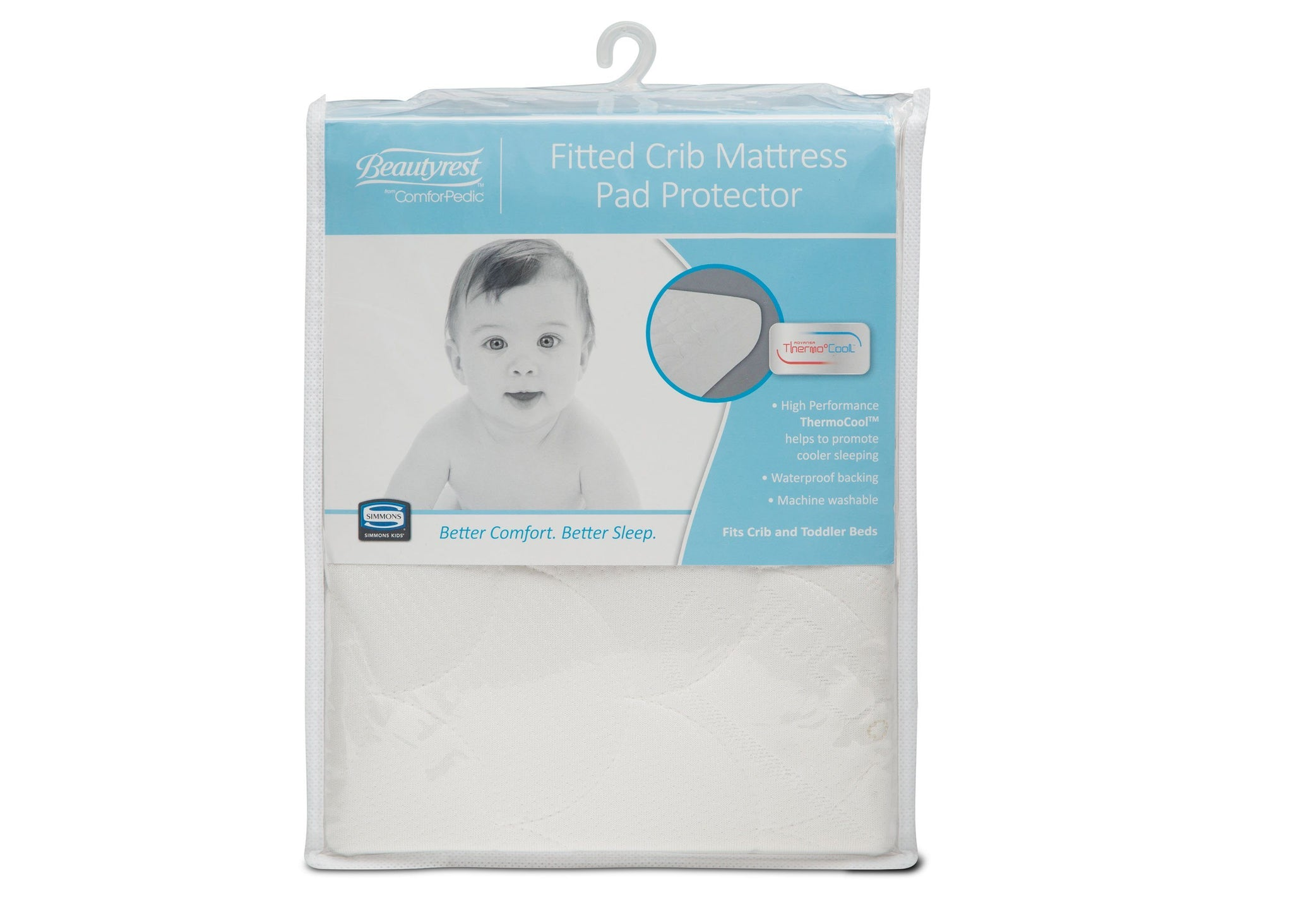 Simmons Kids ComforPedic from Beautyrest® Fitted Crib Mattress Pad Cover (B24010-0001), a1a