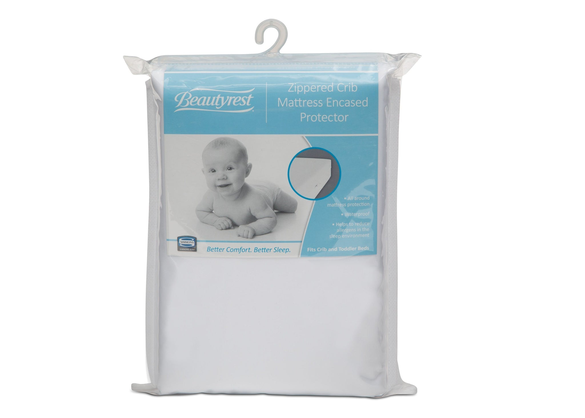 Simmons Kids Beautyrest® Zippered Crib Mattress Encased Protector (B27030-0001), a1a No Color (NO)