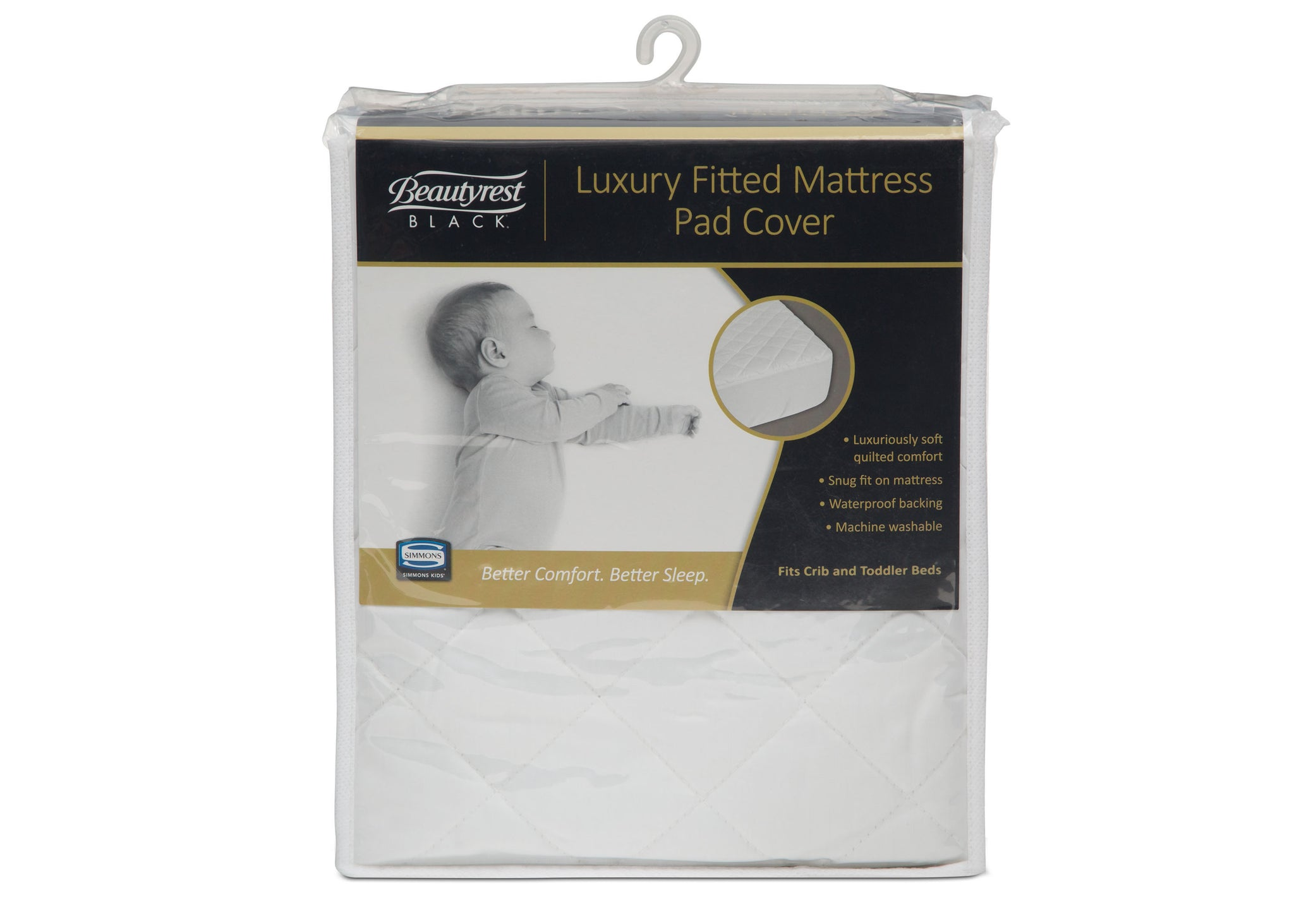 Beautyrest Black® Luxury Fitted Mattress Pad Cover Packaged View a1a