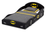 Batman (1200) Batmobile Plastic Sleep and Play Toddler Bed by Delta Children Left Silo View