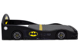 Batman (1200) Batmobile Plastic Sleep and Play Toddler Bed by Delta Children Side Silo View