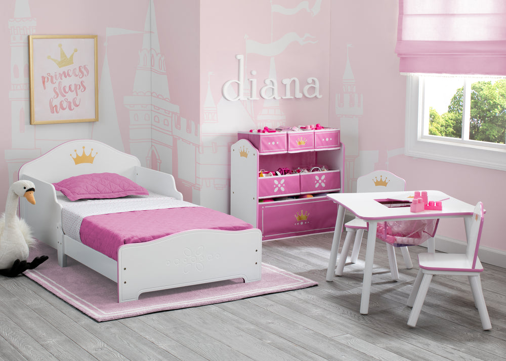 Delta Children Love Girl (1187) Princess Crown Wood Toddler Bed Room View