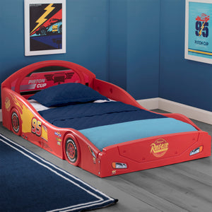 Cars Lightning McQueen Plastic Sleep and Play Toddler Bed