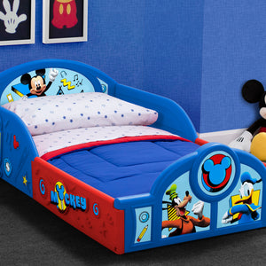 Delta Children Mickey Mouse Deluxe Toddler Bed (BB81407MM) right facing a0a