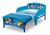 Delta Children Style 1 Super Friends (Batman | Superman | Cyborg | The Flash | Aquaman) Plastic Toddler Bed Left View a4a
