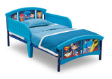 Delta Children Style 1 Super Friends (Batman | Superman | Cyborg | The Flash | Aquaman) Plastic Toddler Bed Right View a3a