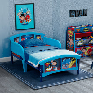 Super Friends (Batman | Superman | Cyborg | The Flash | Aquaman) Plastic Toddler Bed