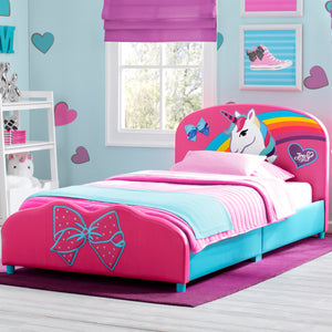 Delta Children JoJo Siwa Upholstered Twin Bed JoJo Siwa (1126), Hangtag