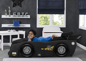 Delta Children Black (001) Grand Prix Race Car Toddler-to-Twin Bed, Toddler Room View